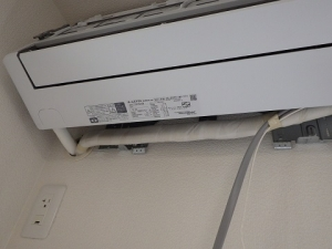配管接続して断熱
