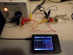 赤外線受信モジュールをテスト中